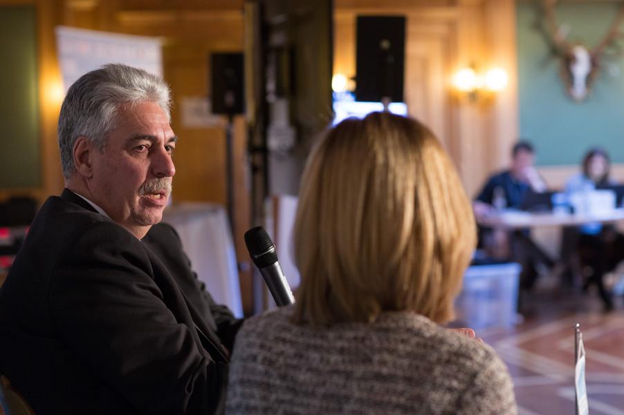 Bild 11   Pressestunde mit Finanzminister Schelling im Rahmen des Euroäischen Mediengipfels Lech am Arlberg