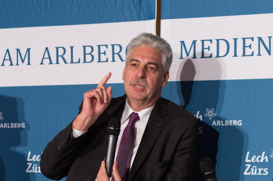 Bild 14   Pressestunde mit Finanzminister Schelling im Rahmen des Euroäischen Mediengipfels Lech am Arlberg
