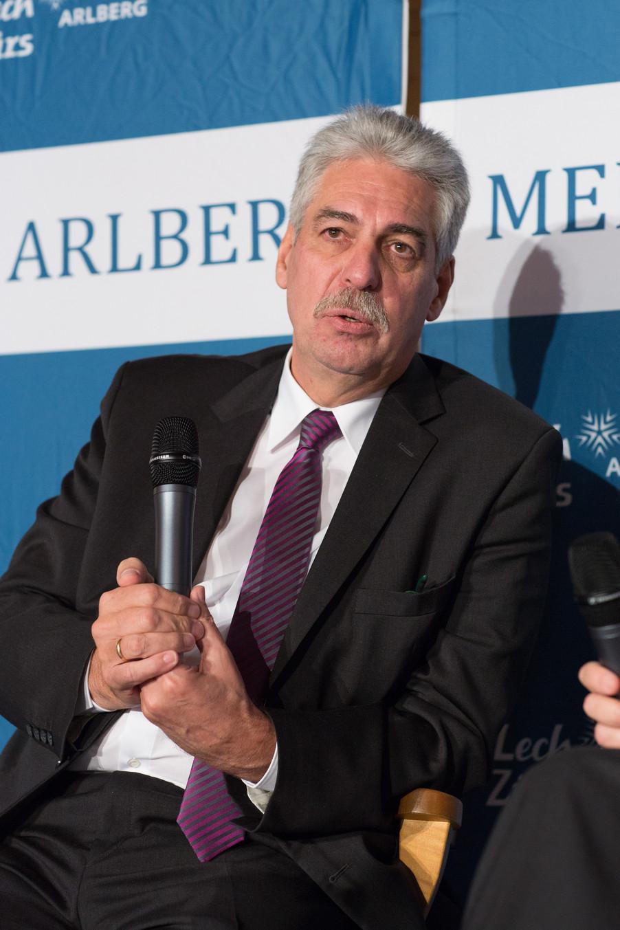 Bild 15   Pressestunde mit Finanzminister Schelling im Rahmen des Euroäischen Mediengipfels Lech am Arlberg