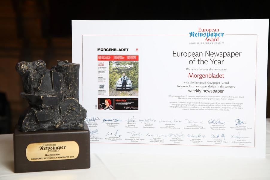 Bild 6 | Winners Dinner - European Newspaper Congress 2018