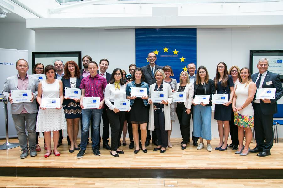 Bild 1 | Verleihungszeremonie Botschafterschulen des Europäischen Parlaments mit BM Heinz Faßmann