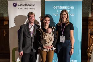 Bild 3   Rainer Gotsbacher, Astrid Weiss, Julia DiFranco beim Austrian Robotics Award