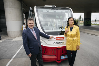 Bild 6 | Autonome E-Busse starten Fahrgasttestbetrieb