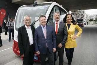 Bild 3 | Autonome E-Busse starten Fahrgasttestbetrieb