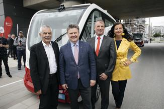 Bild 4 | Autonome E-Busse starten Fahrgasttestbetrieb