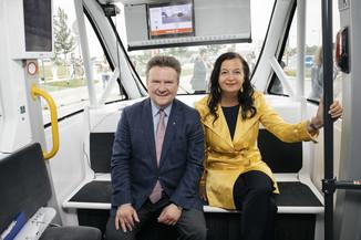 Bild 27 | Autonome E-Busse starten Fahrgasttestbetrieb