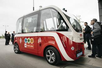 Bild 38 | Autonome E-Busse starten Fahrgasttestbetrieb