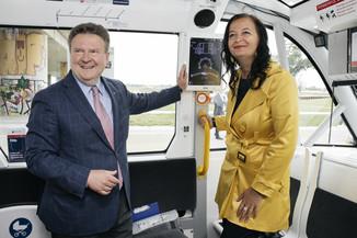 Bild 28 | Autonome E-Busse starten Fahrgasttestbetrieb