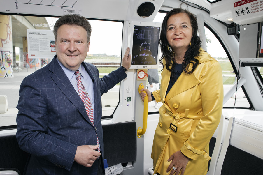 Bild 29 | Autonome E-Busse starten Fahrgasttestbetrieb