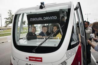 Bild 32 | Autonome E-Busse starten Fahrgasttestbetrieb