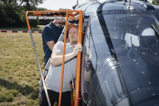 Bild 12 | Hubschrauberflug Vogelschutz