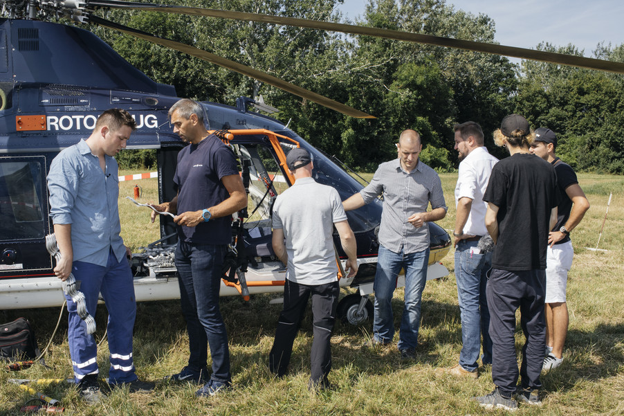 Bild 17 | Hubschrauberflug Vogelschutz