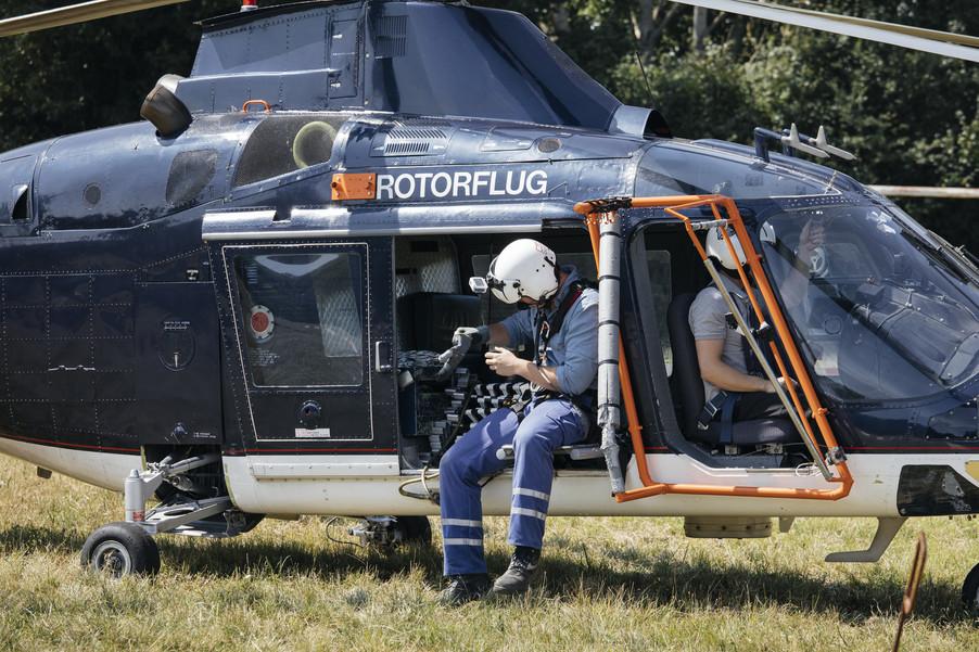 Bild 18 | Hubschrauberflug Vogelschutz
