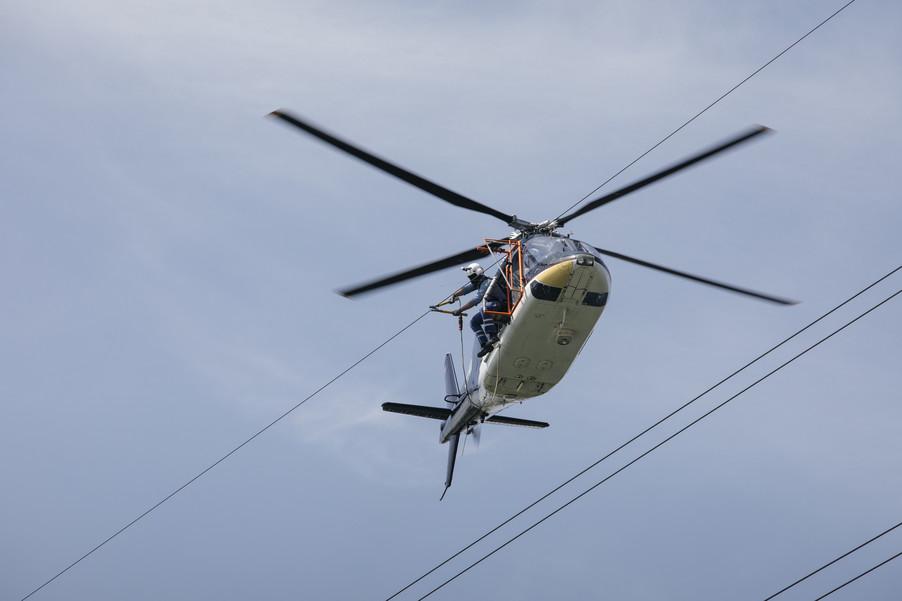 Bild 31 | Hubschrauberflug Vogelschutz