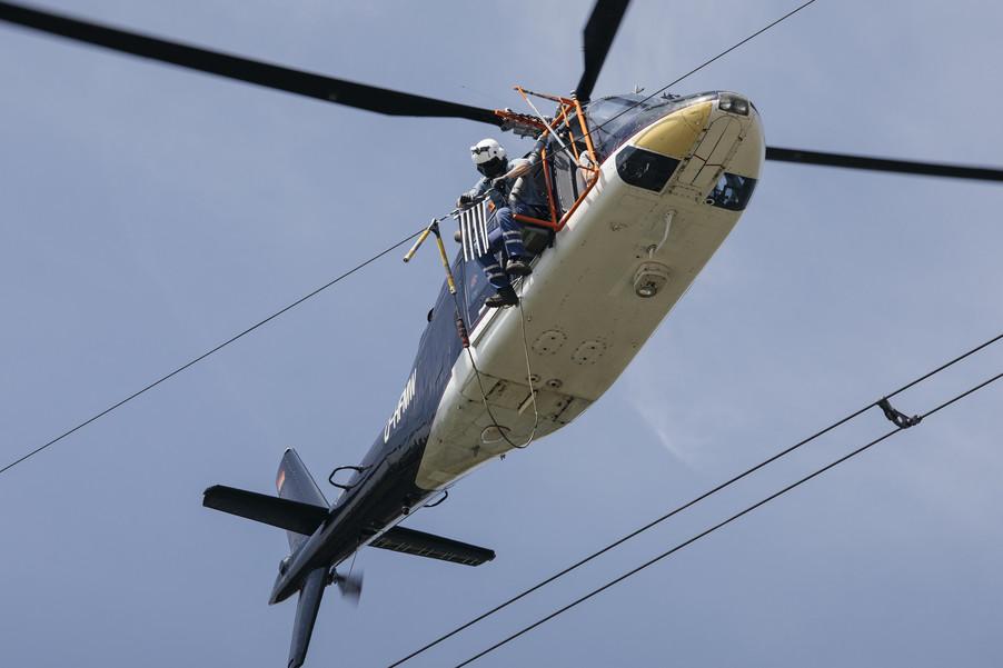 Bild 36 | Hubschrauberflug Vogelschutz