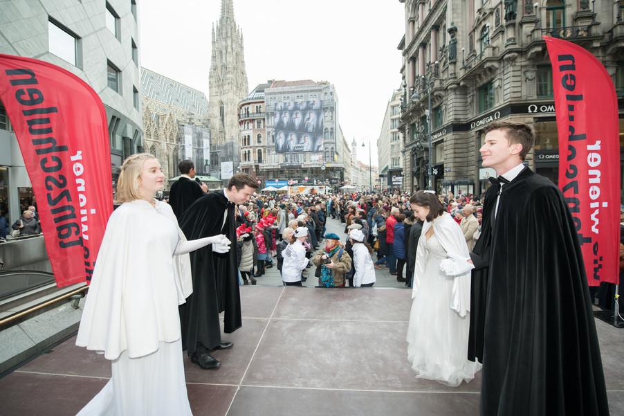 Bild 12   Faschingsbeginn mit den Wiener Tanzschulen: Stephansplatz wird zum größten Open-Air-Tanzsaal ...