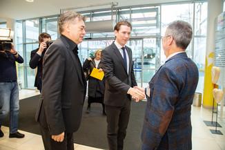 Bild 9 | Bundeskanzler Kurz, Vizekanzler Kogler und Sozialminister Anschober besuchen das Haus der ...