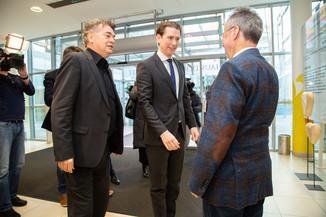 Bild 10 | Bundeskanzler Kurz, Vizekanzler Kogler und Sozialminister Anschober besuchen das Haus der ...