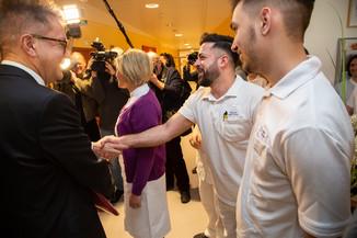 Bild 21 | Bundeskanzler Kurz, Vizekanzler Kogler und Sozialminister Anschober besuchen das Haus der ...