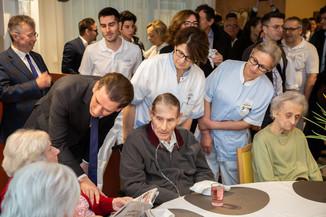 Bild 33 | Bundeskanzler Kurz, Vizekanzler Kogler und Sozialminister Anschober besuchen das Haus der ...