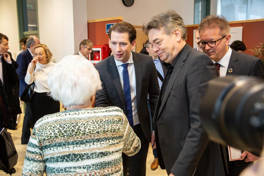 Bild 59 | Bundeskanzler Kurz, Vizekanzler Kogler und Sozialminister Anschober besuchen das Haus der ...