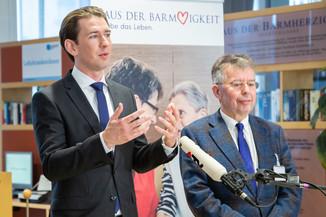 Bild 81 | Bundeskanzler Kurz, Vizekanzler Kogler und Sozialminister Anschober besuchen das Haus der ...