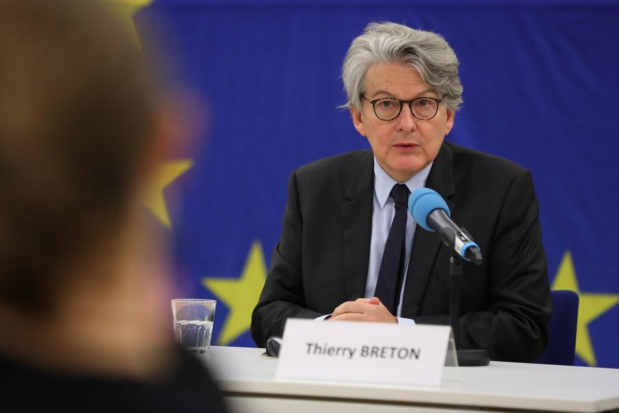 Bild 5 | Pressegespräch mit EU-Kommissar Breton zur Impfstoffstrategie