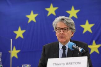 Bild 6 | Pressegespräch mit EU-Kommissar Breton zur Impfstoffstrategie