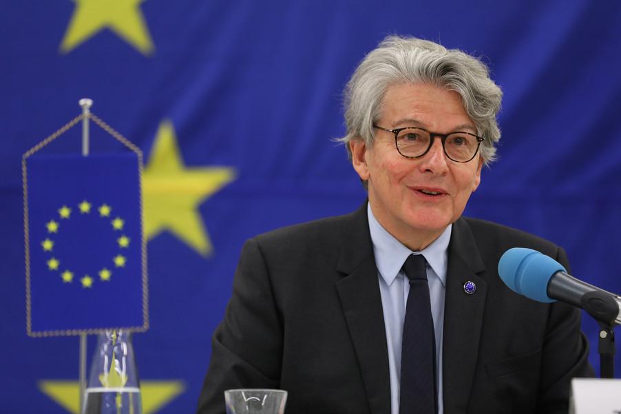 Bild 7 | Pressegespräch mit EU-Kommissar Breton zur Impfstoffstrategie