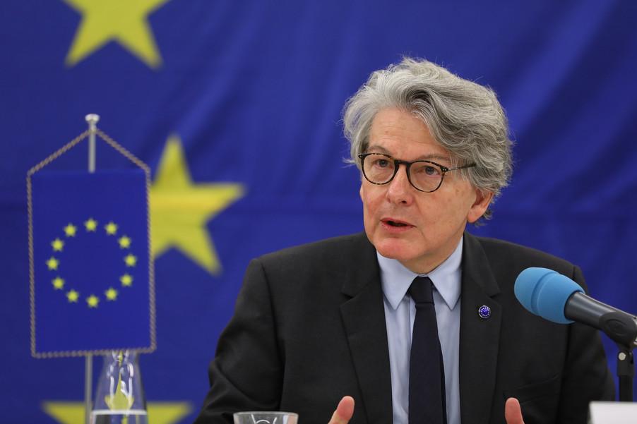 Bild 8 | Pressegespräch mit EU-Kommissar Breton zur Impfstoffstrategie