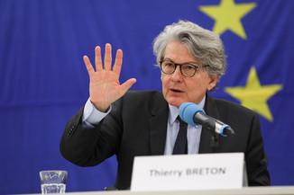 Bild 10 | Pressegespräch mit EU-Kommissar Breton zur Impfstoffstrategie
