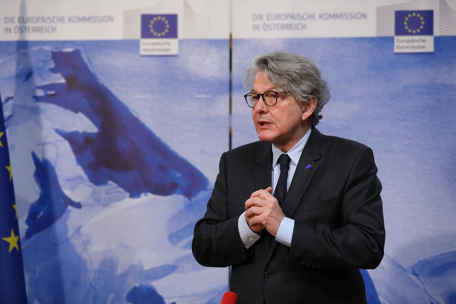 Bild 13 | Pressegespräch mit EU-Kommissar Breton zur Impfstoffstrategie