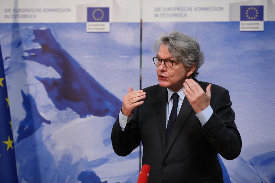 Bild 15 | Pressegespräch mit EU-Kommissar Breton zur Impfstoffstrategie