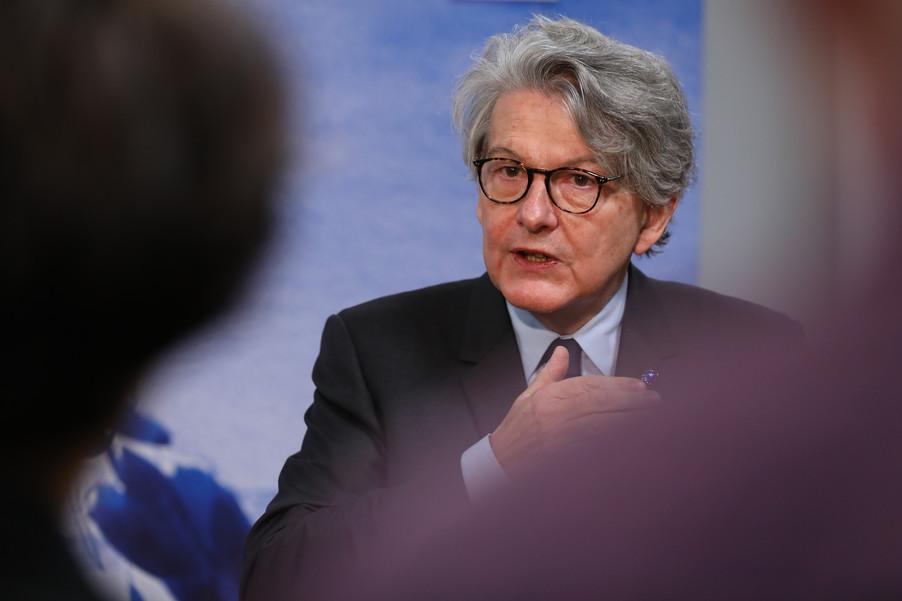Bild 17 | Pressegespräch mit EU-Kommissar Breton zur Impfstoffstrategie