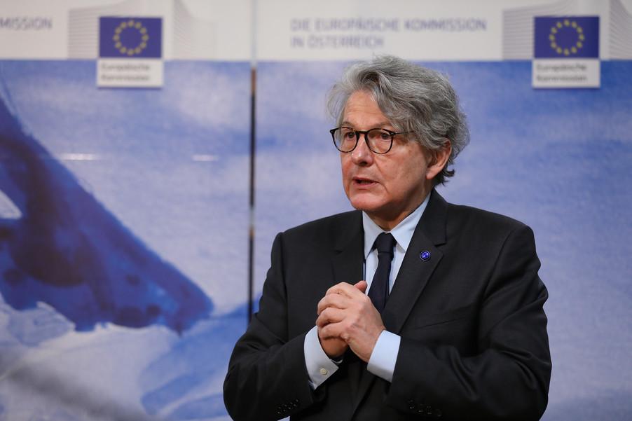 Bild 20 | Pressegespräch mit EU-Kommissar Breton zur Impfstoffstrategie