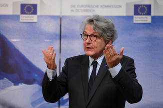 Bild 21 | Pressegespräch mit EU-Kommissar Breton zur Impfstoffstrategie