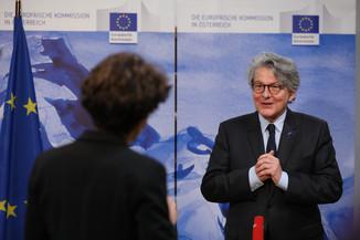 Bild 23 | Pressegespräch mit EU-Kommissar Breton zur Impfstoffstrategie