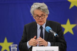 Bild 24 | Pressegespräch mit EU-Kommissar Breton zur Impfstoffstrategie