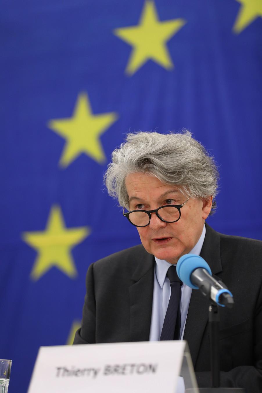 Bild 25 | Pressegespräch mit EU-Kommissar Breton zur Impfstoffstrategie