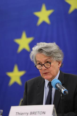 Bild 26 | Pressegespräch mit EU-Kommissar Breton zur Impfstoffstrategie