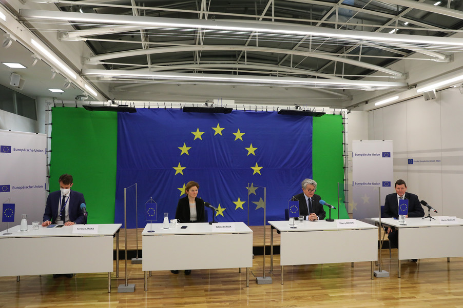 Bild 29 | Pressegespräch mit EU-Kommissar Breton zur Impfstoffstrategie