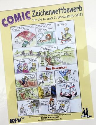 Bild 4   Schüler der BG BRG Mössinger gewinnt 1. Platz bei österreichweitem Zeichenwettbewerb