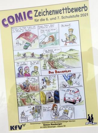 Bild 5   Schüler der BG BRG Mössinger gewinnt 1. Platz bei österreichweitem Zeichenwettbewerb