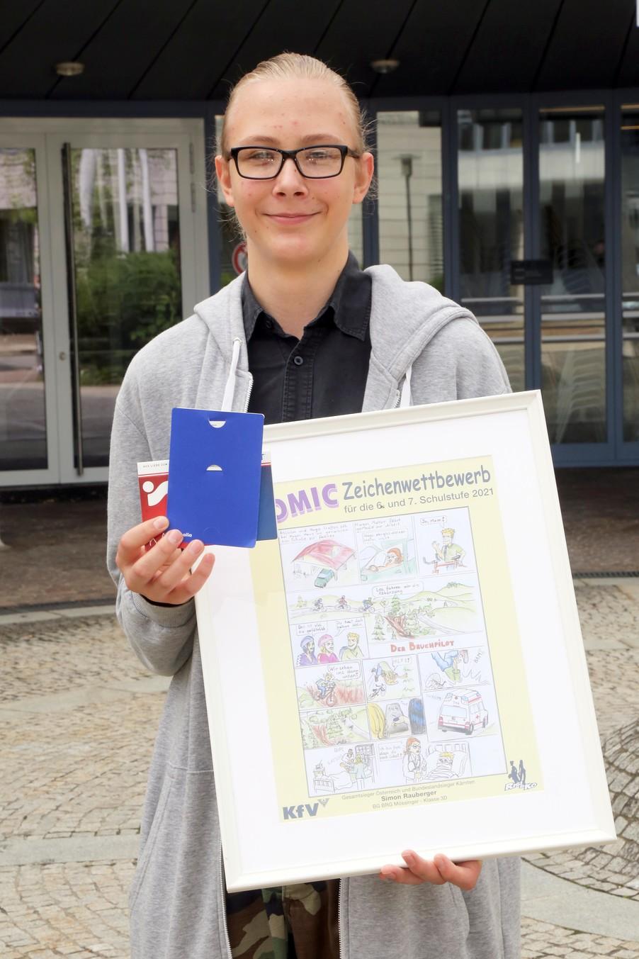 Bild 6   Schüler der BG BRG Mössinger gewinnt 1. Platz bei österreichweitem Zeichenwettbewerb