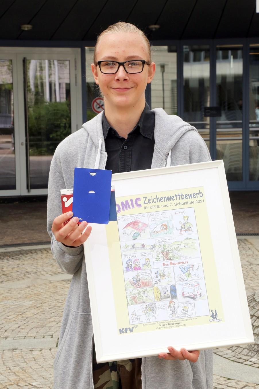 Bild 7   Schüler der BG BRG Mössinger gewinnt 1. Platz bei österreichweitem Zeichenwettbewerb