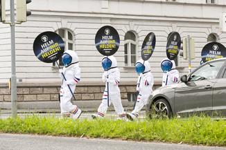 Bild 12 | Bregenz am 8.6.2021, APA KFV Kuratorium fuer Verkehrssicherheit, Event Nr. 0128.21, Gruppenfoto mit ...