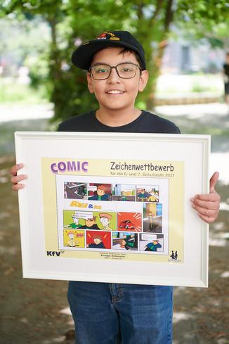 Bild 2 | 2 SchülerInnen der BRG 3 gewinnen bei Zeichenwettbewerb