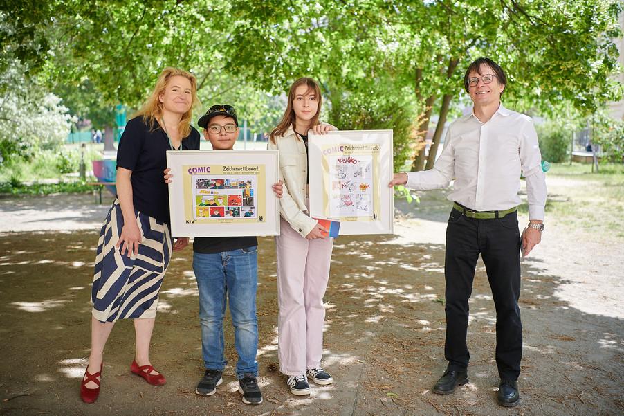 Bild 7 | 2 SchülerInnen der BRG 3 gewinnen bei Zeichenwettbewerb