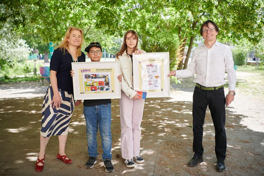 Bild 8 | 2 SchülerInnen der BRG 3 gewinnen bei Zeichenwettbewerb