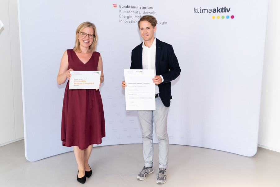 Bild 19   klimaaktiv Bronze Auszeichnung für die Wohnhausanlage 4U - Ungergasse in Graz